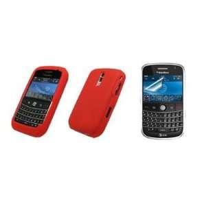 BlackBerry Bold 9000   Premium Red Soft Silicone Gel Skin Cover Case