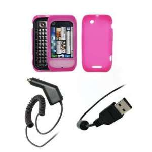 Premium Hot Pink Soft Silicone Gel Skin Cover Case + Rapid