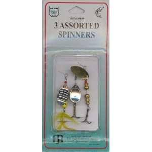 Dolphin 3 Assorted Spinner Lures: Sports & Outdoors