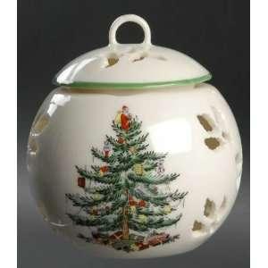 Spode Christmas Tree Green Trim Pierced Friendship Ball