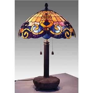 Tiffany Style Stained Glass Table Desk Lamp Golden