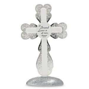 Things Mean A Lot Friend Self Standing Cross, 7 Inch