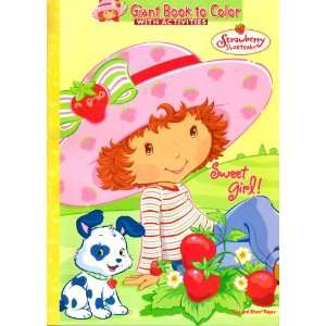 Strawberry Shortcake Giant Book to Color ~ Sweet Girl!  Toys & Games