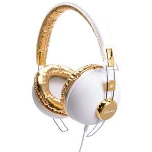 Recording Studio Equipment   White and Gold Musical Instruments