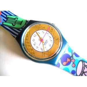 Swatch Palco Musical Theme Plastic Swiss Quartz Mens