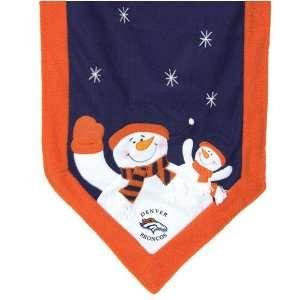 Denver Broncos Snowman Table Runner