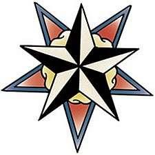 Nautical Star Tattoo T shirt, Classic Tattoo Design T