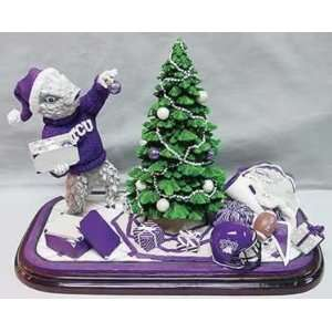 TCU Horned Frogs Tree Trimmer Figurine