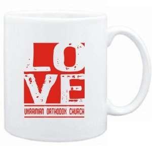 Mug White  LOVE Ukrainian Orthodox Church  Religions