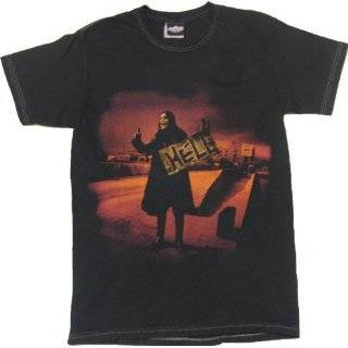 Mens Ozzy Osbourne Hitchhiker Asphalt With Stitching Tee