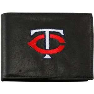 MLB Minnesota Twins Black Leather Billfold Wallet