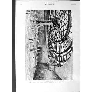1887 Big Ben Clock Tower Westminster London Chimes Bell