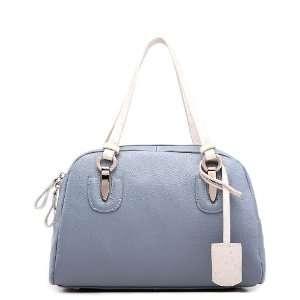 Shoulder Bag Handbag Satchel Tote Bowling Style Women Blue 1170123 16