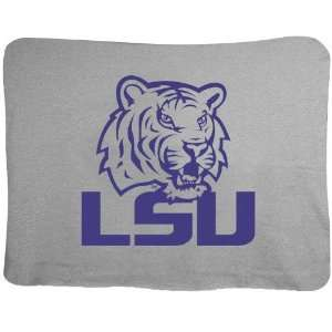 LSU Tigers Gray 47x60 Stadium Blanket
