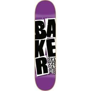 Baker Stacked Purple Skateboard Deck   7.56  Sports
