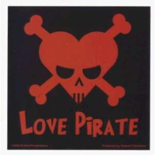 Love Pirate   Red & Black   Sticker / Decal