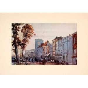 1929 Print Cheyne Walk Cityscape Architecture Street Richard Parkes