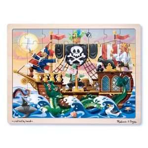 Melissa & Doug Deluxe Wooden 48 Piece Jigsaw Puzzle   Pirates  Toys