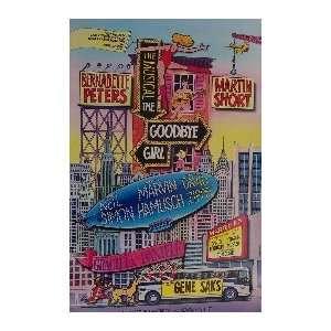 THE GOODBYE GIRL (ORIGINAL BROADWAY THEATRE WINDOW CARD