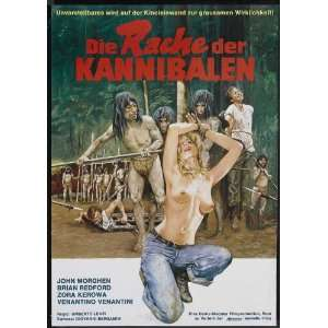 Make Them Die Slowly (1981) 27 x 40 Movie Poster German Style B