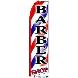 BARBER SHOP X Large Swooper Feather Flag