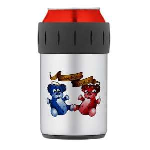Cooler Koozie Double Trouble Bears Angel and Devil