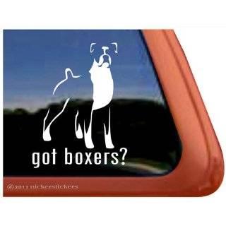 Love My Boxer Dog Vinyl Window Dog Decal Sticker
