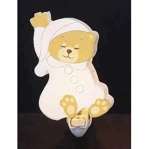 Childrens Quality Designed White Sleeping Bear Room Night Light Baby