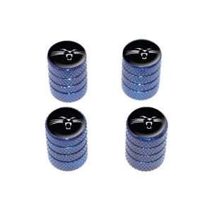 Panther Face   Tire Rim Valve Stem Caps   Blue: Automotive