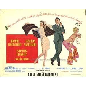 Cactus Flower Poster Half Sheet 22x28 Walter Matthau Goldie Hawn