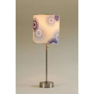 Lights Up Cancan Adjustable Table Lamps   shade blue cornflower silk