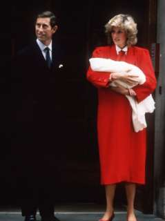 with Prince Harry After His Birth September 1984 Photographic Print