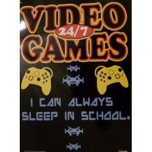 Metal Tin Sign I Can Always Sleep At School