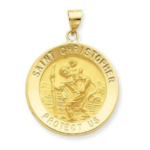 14k Saint Christopher Medal Pendant: West Coast Jewelry: Jewelry