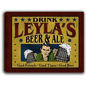 Leylas Beer & Ale 14 x 11 Collectible Stretched