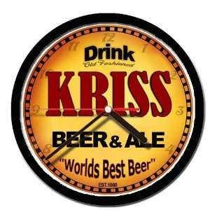 KRISS beer and ale cerveza wall clock: Everything Else