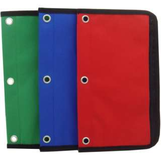 Wholesale 3 Ring Binder Zipper Bag / Pencil Pouch (SKU 531271