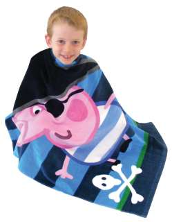 GEORGE PIG PEPPA PIRATE TOWEL VELOUR BEACH BATH POOL