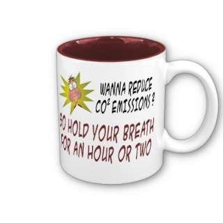 Cartoon Coffee Mugs: Anti Climate Change from Zazzle