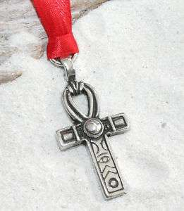 ANKH EGYPTIAN CROSS Pewter Christmas ORNAMENT Holiday