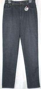 Gloria Vanderbilt Amanda Gray Blue Classic Jean 10 Tall
