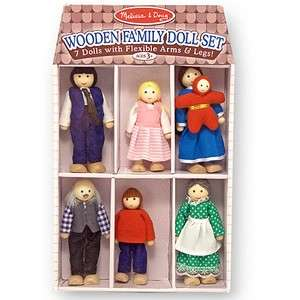 Melissa & Doug Family Wooden Doll Set  Preschool toys  eChemist.co