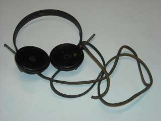 Vintage/Antique Radio Part  SF Japan Headphones With Cloth Cord