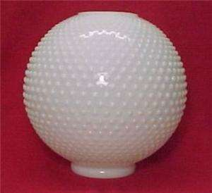 Hobnail Gone with the Wind Milk Glass Ball Lamp Shade