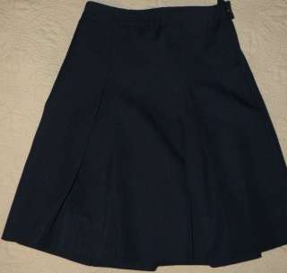 DENNIS UNIFORM Girls NAVY BLUE Box Pleat SKIRT sz 10