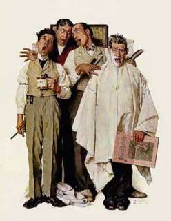 Barbershop Quartet Art Print by Norman Rockwell at Barewalls