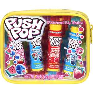 Lotta Luv Push Pop Flavored Lip Balm, 4ct: Makeup