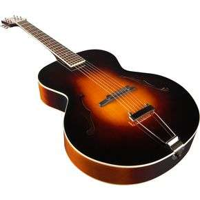 The Loar LH 300 Archtop Acoustic Guitar Sunburst, Close Angle
