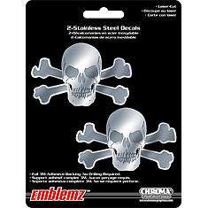 Buy Skulls Steel Emblemz by Chroma Graphics   part# 1206