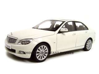 Mercedes C Class Elegance Diecast Model White 1/18 Die Cast Car By